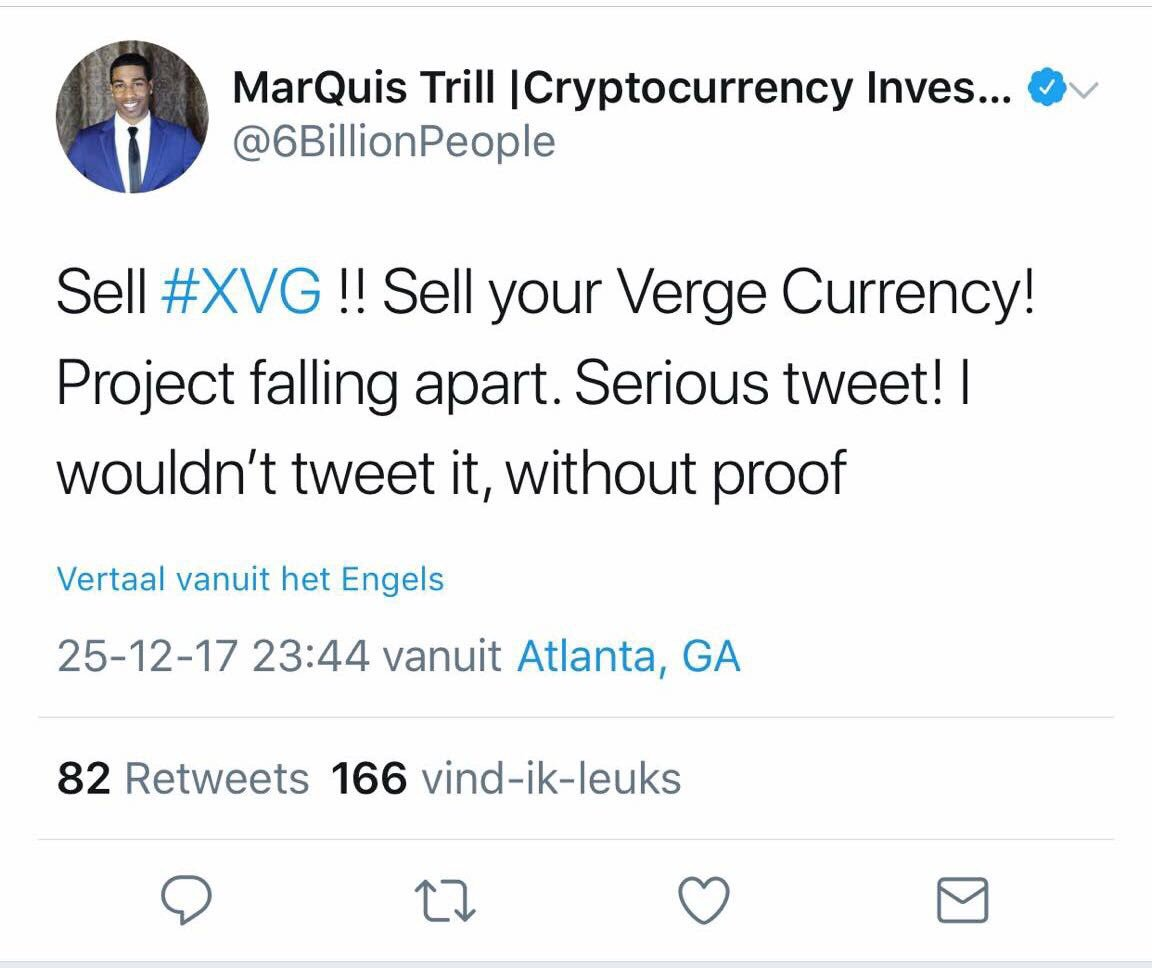 Verge Currency Hoax News